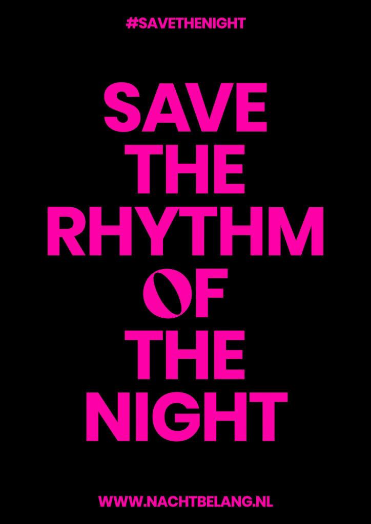 Poster logo Nachtbelang save the rythm of the night